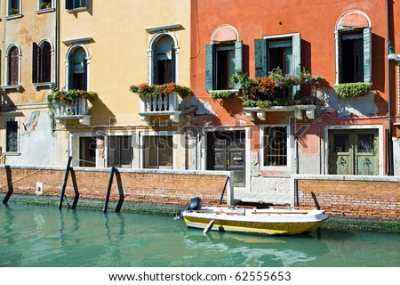 Canals And Apartments In Venice, Italy Stock Photo ...
