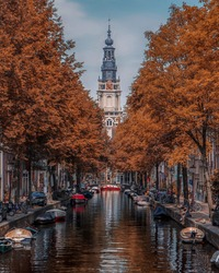 Canals in Amsterdam City - Holland
