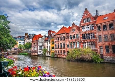 Shutterstock Canals of Gent, Belgium
