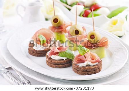 блюда канапе рецепты с фото