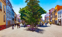 Canary Islands.Tenerife,La laguna village.Travel and tourism in Canaries.Landmark and vacations in Spanish beachs.