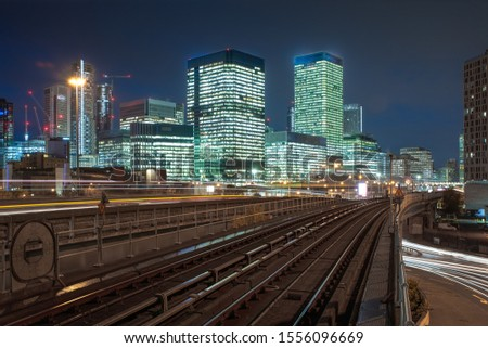 Canary wharf cityscape. Canary wharf is the business districet in London City UK. #1556096669
