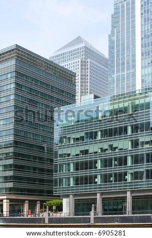 Canary Wharf corporate buildings
