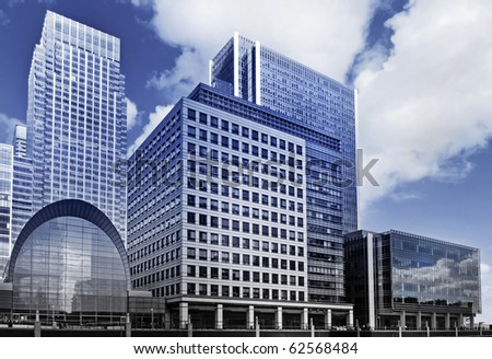 Canary Wharf, Futuristic face of London's famous financial district.