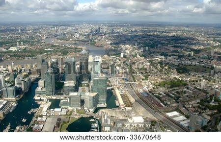 Canary Wharf, London from the top