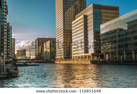 Canary Wharf the financial district of the United Kingdom