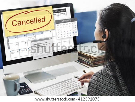 Canceled Appointment Planner Ignore Concept