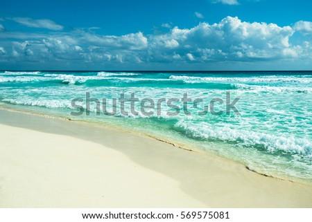 Cancun beach panorama, Mexico #569575081