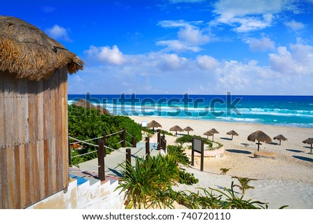 Shutterstock Cancun Delfines Beach at Hotel Zone of Mexico