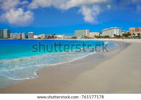 Shutterstock Cancun Forum beach Playa Gaviota Azul in Mexico at Hotel Zone