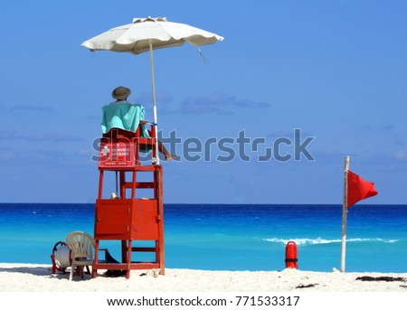 Cancun, Mexico, life guard
