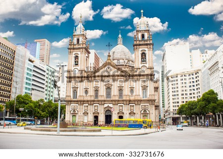 candelaria church in downtown...