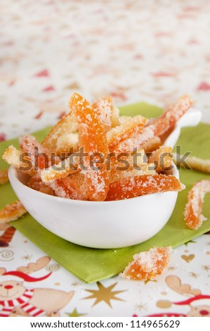 Candied citrus peel for christmas