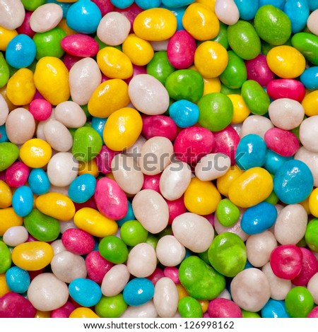 Candies colorful background