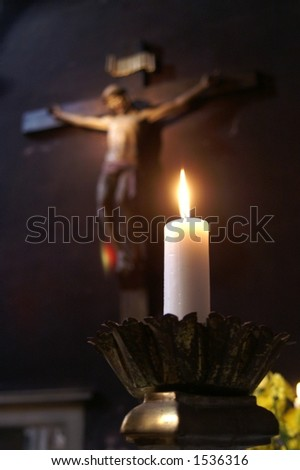 Candle and Crucifix