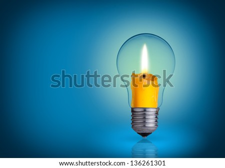 candle into lighting bulb.