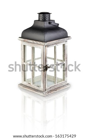 candle lamp holder isolate on white background #163175429
