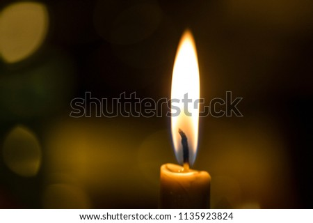Candle light, candle flame, candlelight close-up photo #1135923824