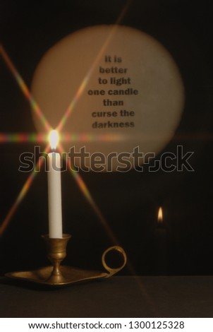 candle light effect #1300125328
