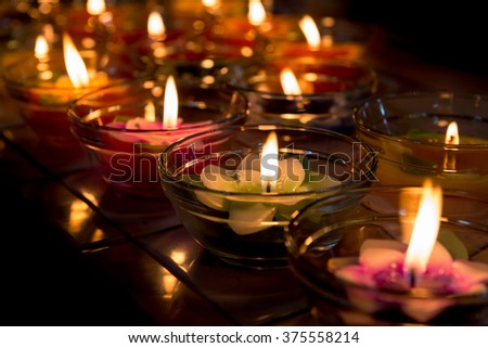 candle light flower candle colorful #375558214