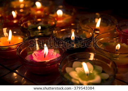 candle light flower candle colorful #379543384