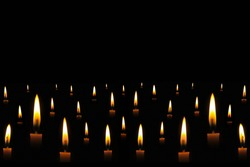Candle light in the dark