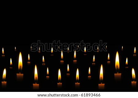 Candle light in the dark - stock photo