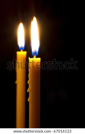 Candle light in the middle of the dark.