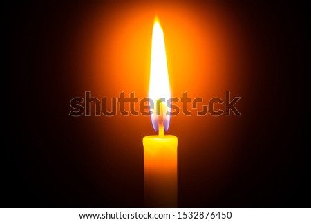 Candle light on black background ,Candle, Flame, Black Background, Candlelight, Single Object,Single lit candle with quite flame ,Candle, Flame, Fire - Natural Phenomenon, Copy Space, Candlelight #1532876450