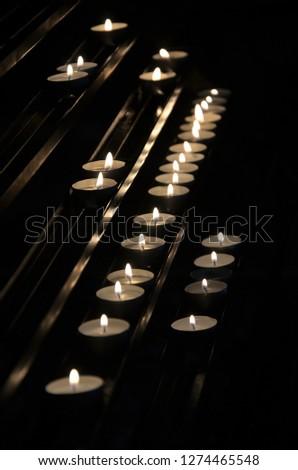 candle, light, religion, dark Zdjęcia stock ©