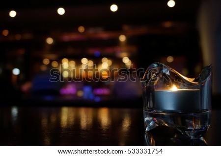 Candle lit luxury bar