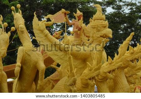 Candle parade Ubon Ratchathani, Thailand #1403805485