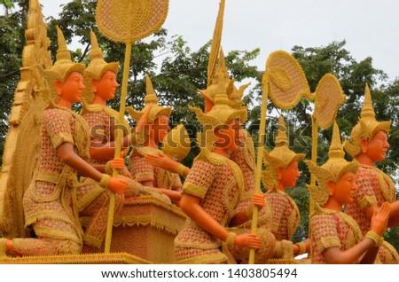 Candle parade Ubon Ratchathani, Thailand