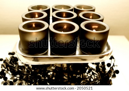 Candle's for decoration.