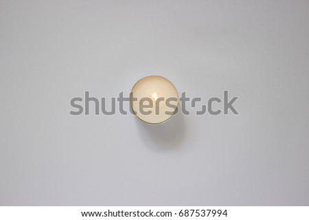 Candle top view