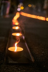 Candle way at Baltic way 30th anniversary rememberance event