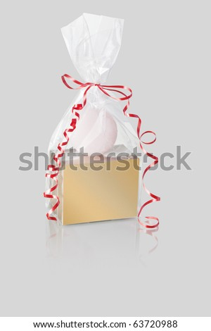 candle with gift