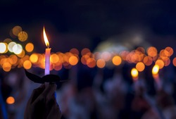 Candlelight and bokeh
