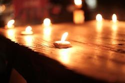 Candlelight on a beautiful bokeh sheet