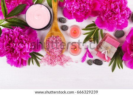 candles and spa Foto stock ©
