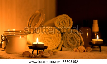 candles and spa