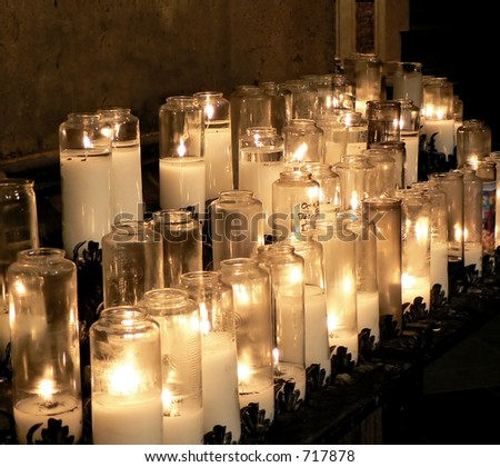 Candles at the Cathedral of St. John the Divine, New York