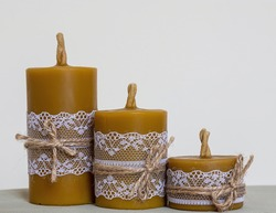 candles from natural beeswax. handmade. Beautiful and useful gift. Traditional crafts.