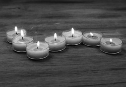 Candles in black and white.