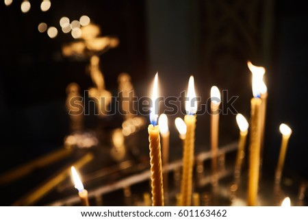 candles in orthodox church