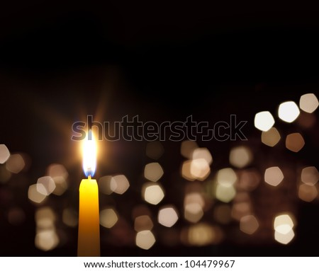 candles light abstract background in night
