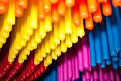 Candles of many colors.