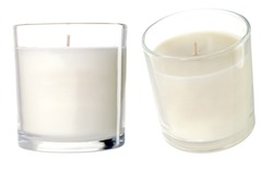 Candles on a white background. Photo