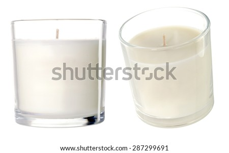 Candles on a white background. Photo #287299691