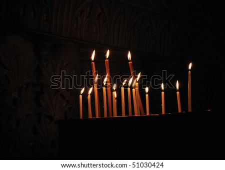 Candles on Calvary, Church of the Holy Sepulcher